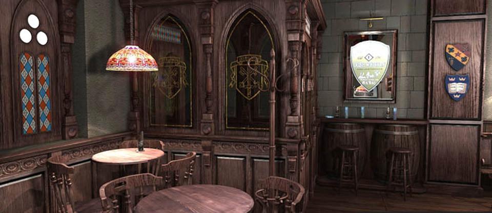 设计图 复古酒吧装修效果图   复古风格酒吧设计,在这些有着